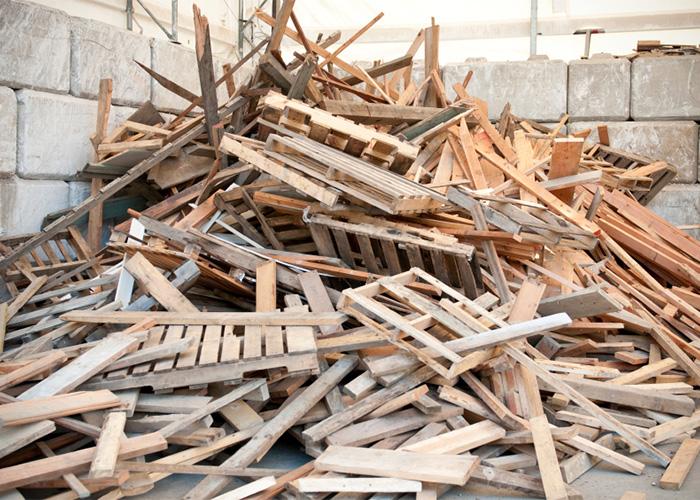 Baumischabfälle wie Holz